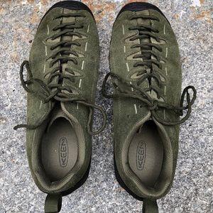 KEEN Men's Jasper, Green suede leather shoe